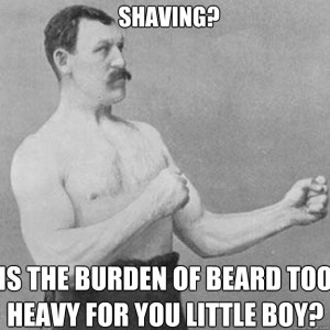 old school shaving guy